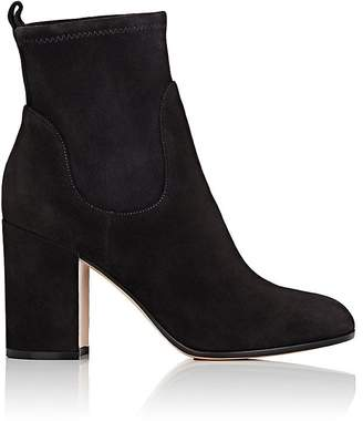 Gianvito Rossi Women's Chunky-Heel Suede Ankle Boots