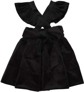 Velvet Skirt With Ruffles Straps