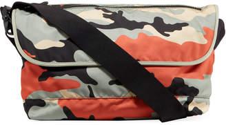 Valentino Garavani Men's Camo-Print Nylon Messenger Bag
