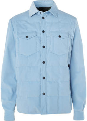 Moncler Stretch-Cotton Corduroy Down Jacket
