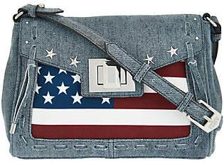 Aimee Kestenberg Leather Flag Crossbody -Washington