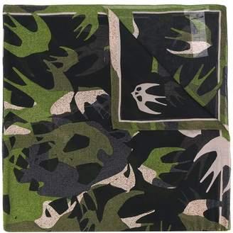 McQ birds printed scarf