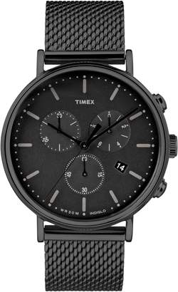 Timex R) Fairfield Chronograph Mesh Strap Watch, 41mm