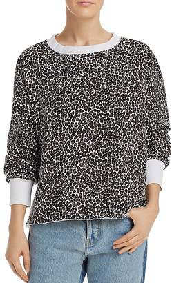 Current/Elliott The Channing Leopard Print Sweatshirt