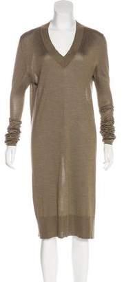 Maison Margiela Long Sleeve Silk Sweater Dress