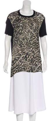 Giambattista Valli Printed Short Sleeve Top