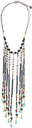 Nakamol Crystal & Stone Chain Fringe Bib Necklace