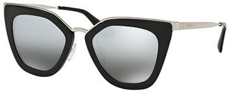 Prada Mirrored Square Cat-Eye Sunglasses $355 thestylecure.com