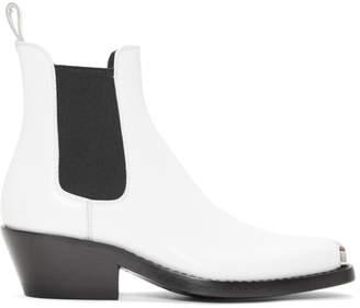 Calvin Klein White Western Claire Boots