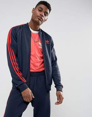 adidas Superstar Track Jacket In Navy BS2659