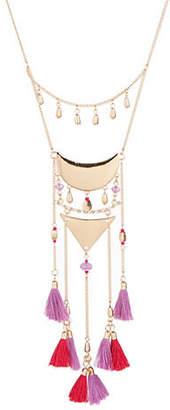 HBC JORDYN G Multi Tassel Crystal Bib Necklace