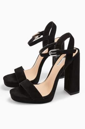 Topshop WIDE FIT SABINE Black Platform Heels