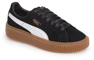 Women's Puma Suede Platform Core Sneaker $99.95 thestylecure.com