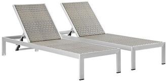 Modway Shore Chaise Outdoor Patio Aluminum Set