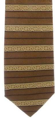 Versace Jacquard Patterned Silk Tie