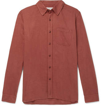 Outerknown Brushed Organic Cotton-Flannel Shirt