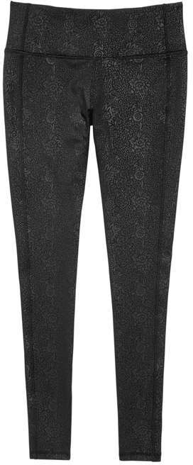 Joe Fresh Women's Floral Active Legging, Black (Size XS)