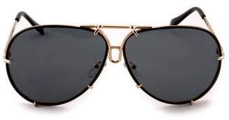 Kayzers Oversized Aviator Detachable Lens Metal Frame Mirrored Sunglasses 5 Colors