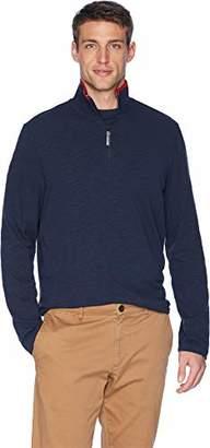 Perry Ellis Men's Cotton Stretch Half Zip Knit