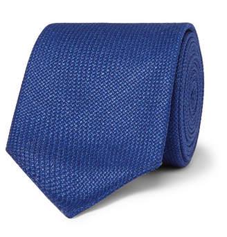 HUGO BOSS 6cm Virgin Wool, Silk and Linen-Blend Tie - Men - Blue