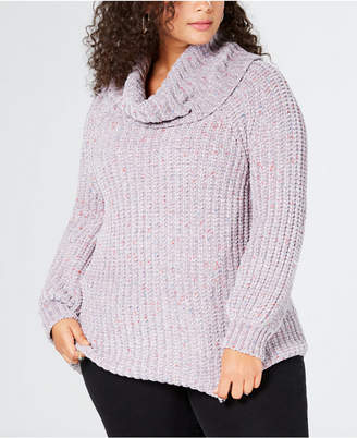 149f65b39d ... 525 America Plus Size Chenille Cowl-Neck Sweater