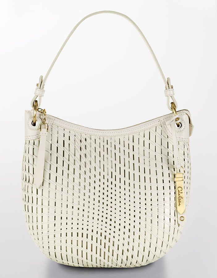 Cole Haan Eve Small Slouchy Woven Leather Hobo Bag