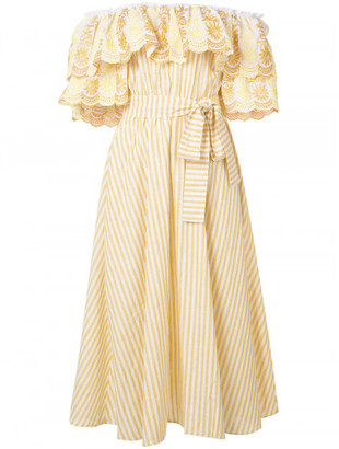 Gul Hurgel ruffle bardot dress