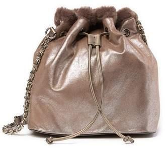 Steve Madden Bucket Faux Fur Lined Shoulder Bag