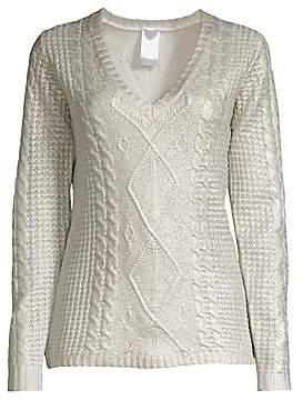 TSE x SFA x SFA Women's Cashmere Foil Overlay Cabled Sweater