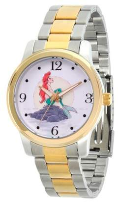 Disney Women's Princess Ariel Two Tone Alloy Watch - Two Tone