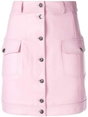 Just Cavalli button front mini skirt