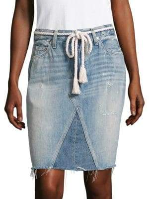 Amo Jules Patched Self-Tie Skirt
