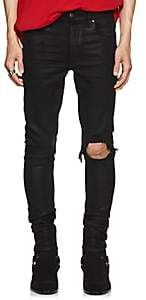 Amiri Men's Broken Coated Skinny Jeans - Black