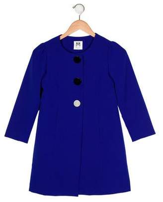 Milly Minis Girls' Long Sleeve Button-Up Coat