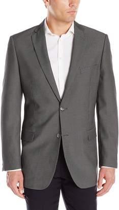 Adolfo Men's Blue Neat Check Modern Fit Sport Coat
