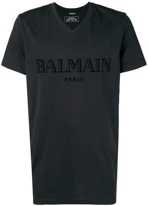 Balmain V-neck logo T-shirt