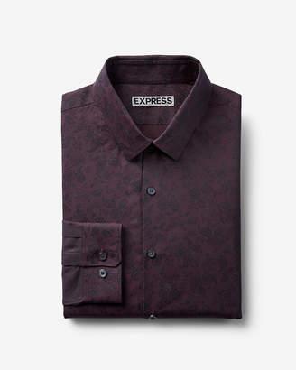 Express Slim Paisley Print Shirt