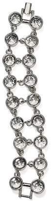 Aqua Two Row Crystal Bracelet - 100% Exclusive