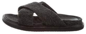 Marni Felt Crossover Sandals