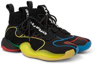 e76f644eb Pharrell Adidas Consortium adidas Consortium Williams Crazy BYW LVL X Mesh  and Suede Sneakers - Men