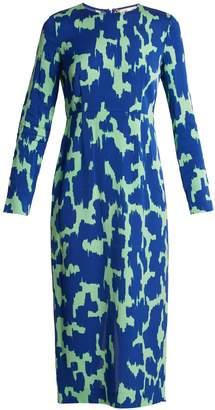 Diane von Furstenberg Long-sleeved stretch-cady pencil dress