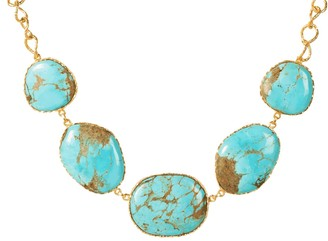 Christina Greene Statement Necklace in Turquoise