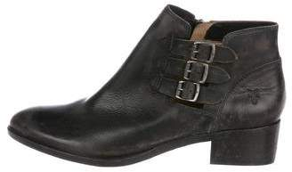 Frye Burnished Leather Ankle Boots