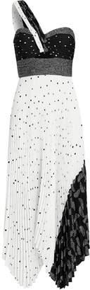 A.L.C. Aurora Patchwork One Shoulder Dress