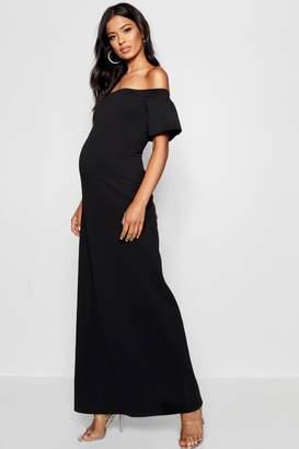 boohoo Maternity Bethany Sleeve Maxi Dress