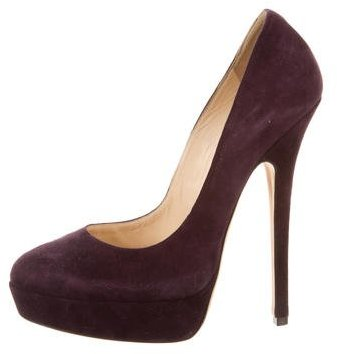 Jimmy Choo Jimmy Choo Suede Platform Pumps