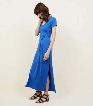 New Look Blue V-Neck Jersey Maxi Dress