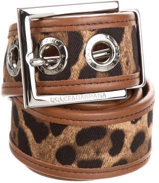 Dolce & GabbanaDolce & Gabbana Leopard Printed Reverable Belt
