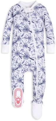 c3d3d78a91 Burt s Bees Daisy Floral Print Organic Baby Zip Up Footed Pajamas