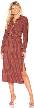 Free People Audrey Midi Stripe Dress